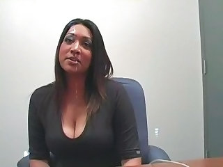 Big Tits Ebony MILF Office Secretary