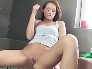 Bathroom Shaved Skinny Teen