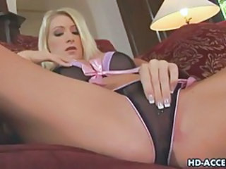 Blonde Lingerie Masturbating Teen