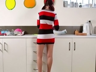 Kitchen Pigtail Teen
