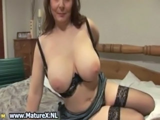 Big Tits Lingerie Mature Stockings