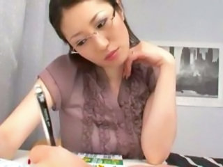 Asian Glasses Japanese MILF Teacher