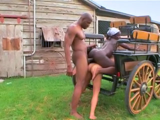 Ass Ebony Farm Hardcore Interracial Outdoor Threesome Vintage