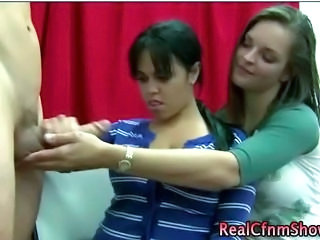 CFNM Handjob Teen Threesome