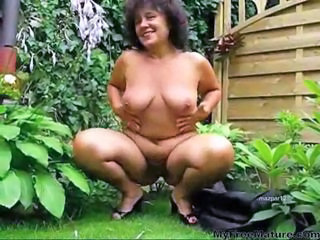 Chubby Granny Outdoor