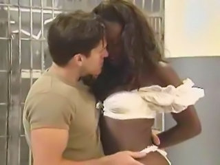 Ebony Interracial Pornstar Prison