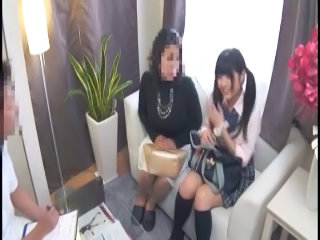 Asian Daughter Japanese Mom Old and Young Pigtail Student Uniform