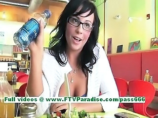 Brunette Glasses Man Public Teen
