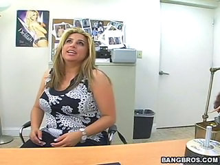 Chubby MILF Office