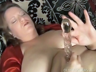 BBW Dildo Mature SaggyTits Toy