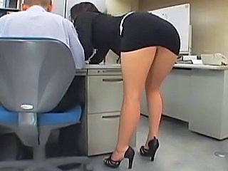 Amazing Asian Ass Japanese MILF Office Secretary