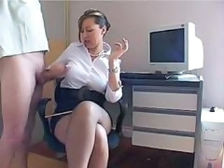 Handjob MILF Office School
