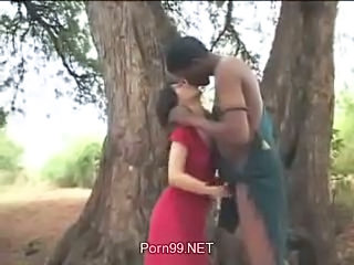 Asian Interracial Kissing Outdoor