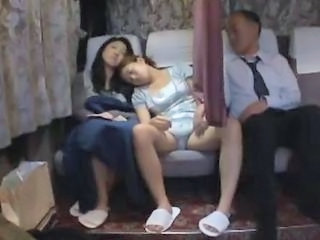 Asian Japanese Threesome Wife