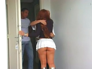 Ass Brazilian Latina Skirt Threesome