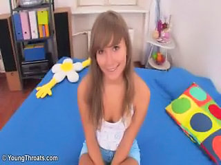 Beautiful teen blonde Karlie at Young Throats