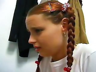 Cute Pigtail Teen