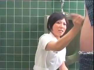 Asian Handjob Japanese Nurse Toilet Uniform