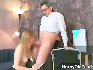 Blowjob Old and Young Teacher