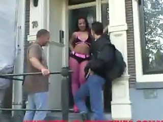 Funny tourist is fucking a hooker in Amsterdam