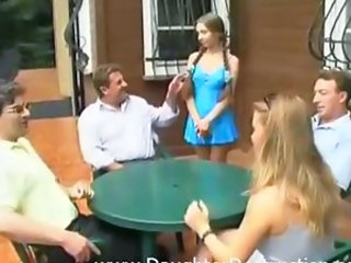 Daddy Daughter Family Old and Young Outdoor Pigtail Teen