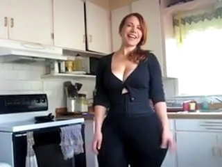 Amateur Chubby Homemade Kitchen MILF Redhead