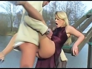 Blonde Clothed European Hardcore Italian MILF Outdoor