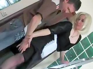 blond russian cougar mom and male