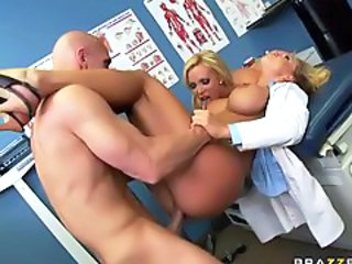 Big Tits Doctor Hardcore MILF Pornstar Silicone Tits Threesome Uniform