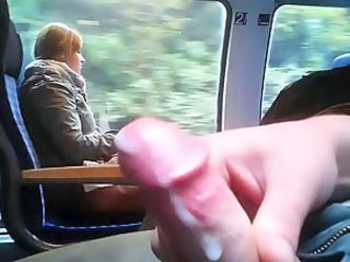 Cumshot Man Public Train