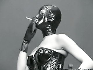 Corset Fetish Latex Smoking