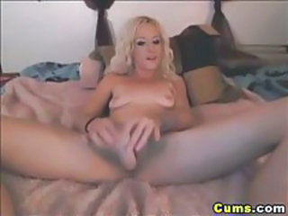 Blonde Masturbating Solo Toy Webcam