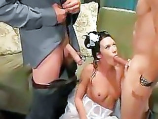 Big cock Blowjob Bride MILF Threesome