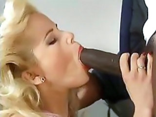 Amazing Big cock Blonde Blowjob Interracial MILF Pornstar
