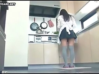 Asian Japanese Kitchen Maid Teen Uniform