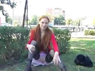 Pigtail Public Stockings Teen