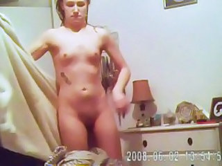 Spy my small tit, tattoed wife on hidden cam #2