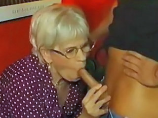 Blowjob German Glasses Granny