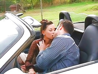 Car Kissing MILF Outdoor