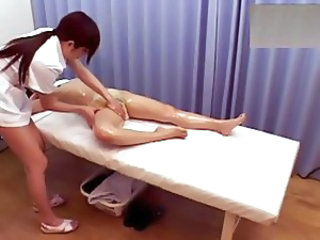 Asian Lesbian Massage Oiled Voyeur