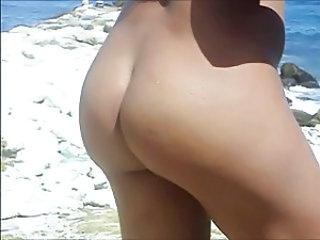 my wife nude in the beach