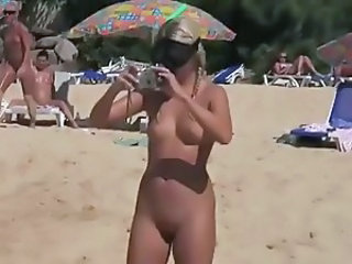 Pretty Girls nude on Beach