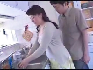 Asian Japanese Kitchen Mom Old and Young