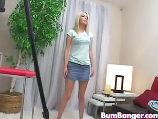 Blonde Skirt Teen