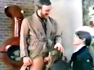 Blowjob Clothed Daddy Daughter Family Old and Young Student Teen Threesome Vintage