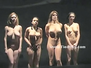 Four Sluts Naked In Dark Room Pr...
