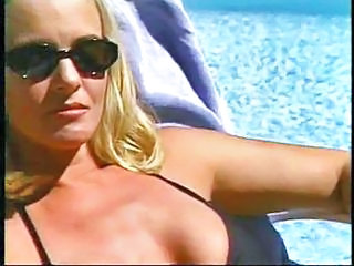 Bikini Blonde Bus MILF Outdoor Pool