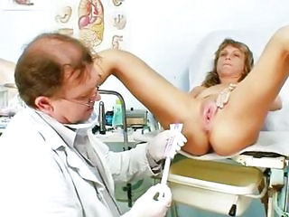 Older Vladimira Receives Her Wet Crack Properly Gyno Examined By Kinky Gyno Doctor