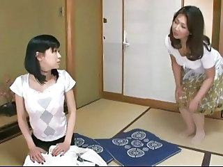 Asian Daughter Japanese Lesbian MILF Mom Old and Young Teen