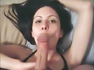Amateur Big cock Blowjob Cumshot Girlfriend Homemade Swallow Teen
